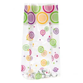 """4"""" x 2 1/2"""" x 9 1/2"""" Mod Dots Everyday Printed Gusset Bags, 1.2 Mil (100 Pieces) [G4MDE]"""