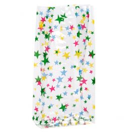 """5"""" x 3"""" x 11 1/2"""" More Stars Printed Gusset Bags 1.2 Mil (100 Pieces) [G5MS1]"""