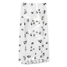 "5"" x 3"" x 11 1/2"" Paw Prints Printed Gusset Bags, 1.2 Mil (100 Pieces) [G5PAW]"