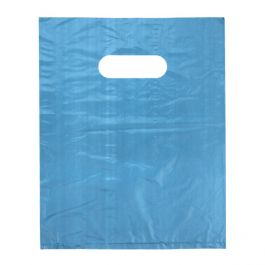"16"" x 16"" Blue Handle Bag 0.7 Mil HDPE (100 Pieces) [H1616BL3]"
