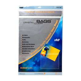 "13 7/16"" x 19 1/4"" Crystal Clear Protective Closure Bags Retail Pack of 25 (1 Pack) [RPA13X19]"