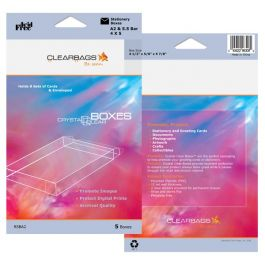 "5 3/8"" x 5/8"" x 7 3/8"" Crystal Clear Boxes® Pack of 5 (1 Pack) FPB119 [RSBA7]"