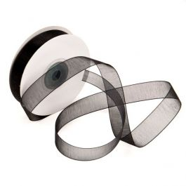 "5/8"" x 75' Black Mono Ribbon (1 Piece) [RIBBLK]"