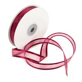 "5/8"" x 75' Wine Satin Edge Ribbon (1 Piece) [RIBSEWNE]"