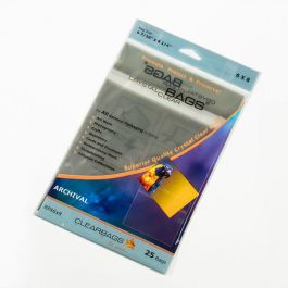 """6 7/16"""" x 8 1/4"""" Crystal Clear Bags® Protective Closure Retail Pack of 25 (1 Pack) [RPA6X8]"""