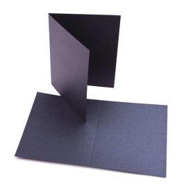 "A2 5 1/2"" x 4 1/4"" Stardream Metallic Blank Card, Onyx (25 Pieces) [P8215]"