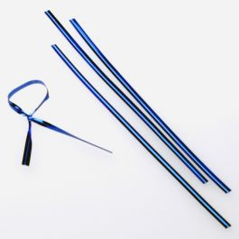 "6"" x 5/32"" Blue Metallic Plastic Twist Tie (1000 pack) [TT6MB]"