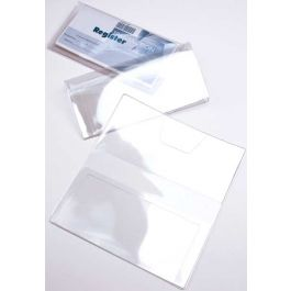 "6 1/4"" x 6 3/4"" Vinyl Checkbook Cover with Duplicate Check Flap (10 Pieces) [VINCHK2]"