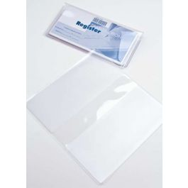 "6 1/4"" x 6 3/4"" Clear Checkbook Cover (10 Pieces) [VINCHK]"