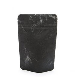 """4"""" x 2 3/8"""" x 6"""" (Outer Dims) Black Rice Paper Stand Up Pouches (100 Pieces) [ZBGR2SB]"""