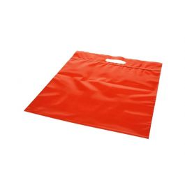 "13 1/4"" x 13 1/4"" +2.5"" Red Zip Top Handle Bag 3 Mil Poly (100 Pieces) [ZH13RD5]"