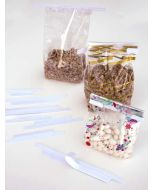 """Adhesive Tin Ties for 3"""" bags (500 Pieces) [TTA3WH]"""