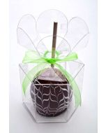 clear flower top candy apple box