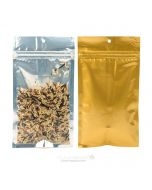 """4"""" x 6 1/2"""" Gold Backed Metallized Hanging Zipper Barrier Bags (100 Pieces) [HZBB5CG]"""