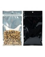 """5"""" x 8 3/16"""" Black Backed Metallized Hanging Zipper Barrier Bags (100 Pieces) [HZBB6CB]"""