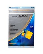 """13 7/16"""" x 19 1/4"""" Crystal Clear Protective Closure Bags Retail Pack of 25 (1 Pack) [RPA13X19]"""