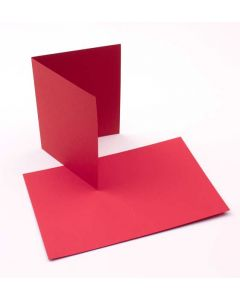 "A2 5 1/2"" x 4 1/4"" Basis Blank Card, Red (50 Pieces) [PC218]"