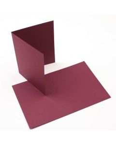 "A2 5 1/2"" x 4 1/4"" Basis Blank Card, Burgundy (50 Pieces) [PC213]"