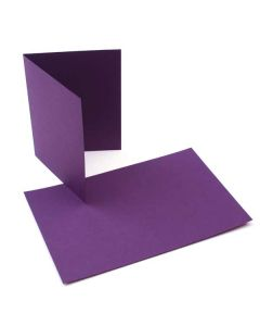 "A7 7"" x 4 7/8"" Basis Blank Card Dark-Purple (50 Pieces) [PC016]"