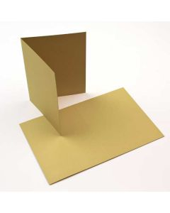"A7 7"" x 4 7/8"" Basis Blank Card Golden-Green (50 Pieces) [PC011]"