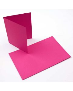 "A2 5 1/2"" x 4 1/4"" Basis Blank Card, Magenta (50 Pieces) [PC208]"