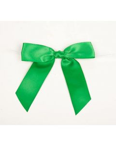 "7/8"" Emerald Pre-tied Bow (100 Pieces) [BOW7EM]"