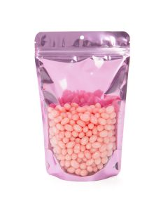 "5 7/8"" x 3 1/2"" x 9 1/8"" (Outer Dims) Brilliant Pink Stand Up Pouch with Hang Hole (100 Pieces) [ZBGB7PK]"