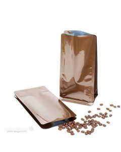 "4"" x 2 3/4"" x 8 1/2"" Bronze Box Bottom Bags w/o Valve (100 Pieces) [SQMN8BZ] CLOSEOUT SALE!"