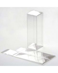 "1 5/8"" x 1 5/8"" x 5"" Crystal Clear Boxes®, Pop & Lock Bottom (25 Pieces) [PLB34]"