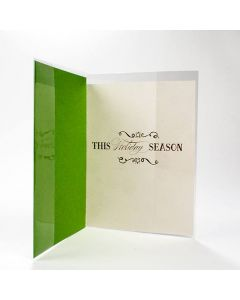 Crystal Clear greeting card jacket