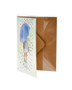 Clear greeting card jacket 4 x 6
