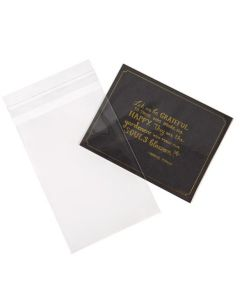 """4 1/4"""" x 6 1/8"""" Clear Bag with Flap Seal"""