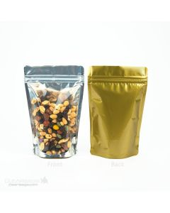 Zipper pouch bag with gold back