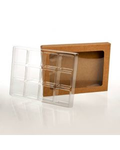 Kraft window candy box