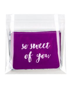 """5 3/16"""" x 3 3/4"""" + Flap, Crystal Clear Bags® (100 Pieces) [B35]"""