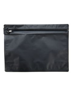 "9"" x 12"" Matte black child resistant bag"