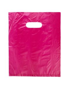 "12"" x 15"" Fuchsia Handle Bag 0.7 Mil HDPE (100 Pieces) [H1215FU3]"