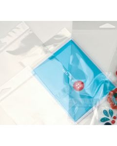 """2 3/4"""" x 3 1/2"""" + Flap, Crystal Clear Protective Closure Hanging Bag (100 Pieces) [HB23PC]"""