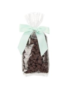 Chocolate chips in clear bag
