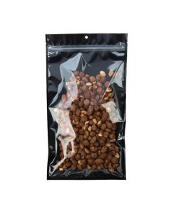 """7"""" x 12"""" Black Backed Metallized Hanging Zipper Barrier Bags w/Tear Notches (100 Pieces) [HZB8CB]"""