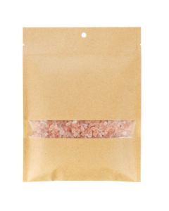 "5"" x 7"" Kraft heat seal bag with window"