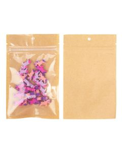 kraft backed odor proof bag with erasers | 3 5/8 x 5