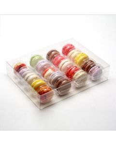 "10 3/16"" x 2"" x 7 1/2"" French Macaron Box Set for 20 (25 Sets) [MBS4]"