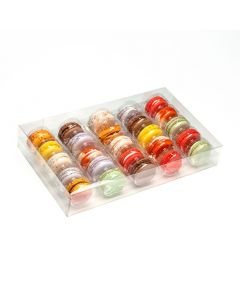 """7 1/2"""" x 2"""" x 12 11/16"""" French Macaron Box Set for 25 (25 Sets) [MBS5]"""