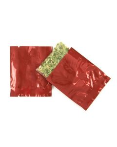 "Red 2"" x 2 1/4"" heat seal bag"