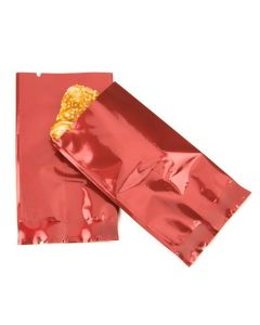 Metallic red flat bags