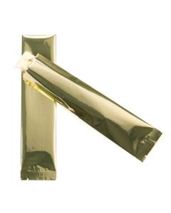 "Premium 2"" x 8"" gold heat seal bag"