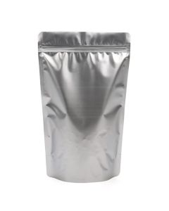 """63/4"""" x 31/2"""" x 111/4"""" (Outer Dimensions) Silver Metallized Zipper Pouch Bags (100 Pieces) [ZBGM4S]"""