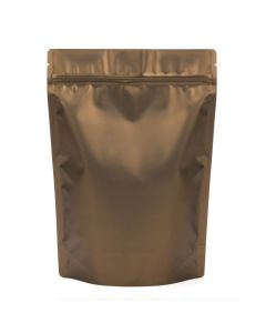 "8 1/4"" x 3 1/2"" x 11 1/2"" (Outer Dims) Bronze Metallized Zipper Pouch Bags (100 Pieces) [ZBGM5BZ]"