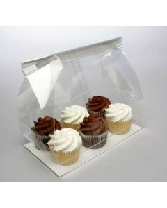 Cupcake bag w/paper bottom for 6 minis
